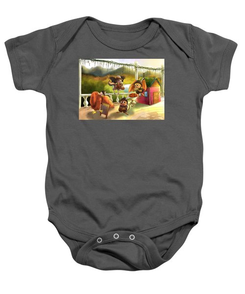 Zeke Cedric Alfred And Polly Baby Onesie