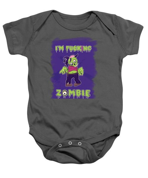 Baby Onesie featuring the digital art Zombie by Julia Art