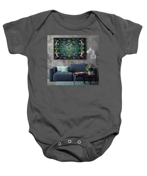 Abstract Cherry Blossom Baby Onesie
