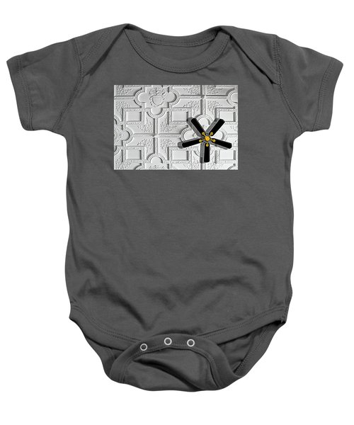 Black And White In Color Baby Onesie