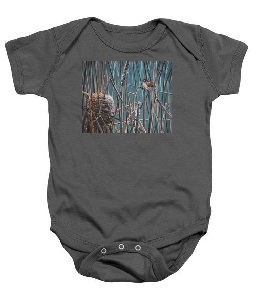 Cattail Hideaway Baby Onesie