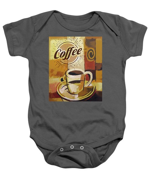Coffee Poster Baby Onesie