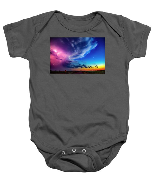 Epic Nebraska Lightning 007 Baby Onesie