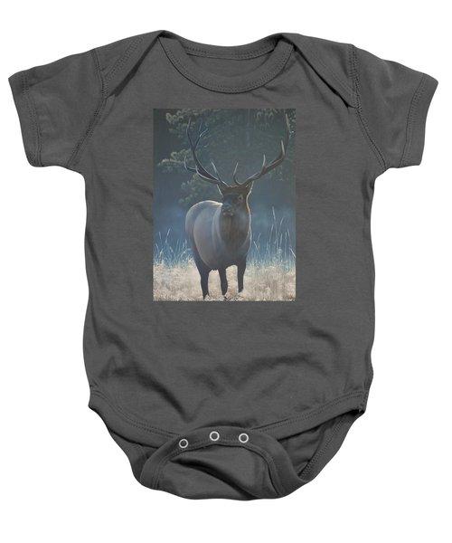 First Light - Bull Elk Baby Onesie