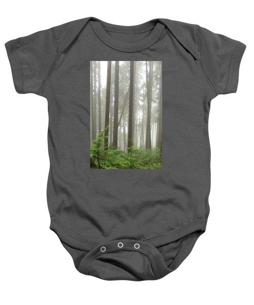 Foggy Forest Baby Onesie