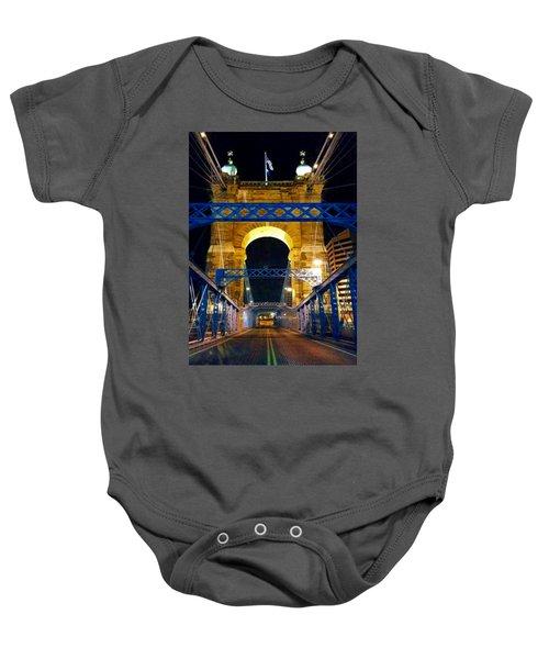 John A. Roebling Bridge Baby Onesie