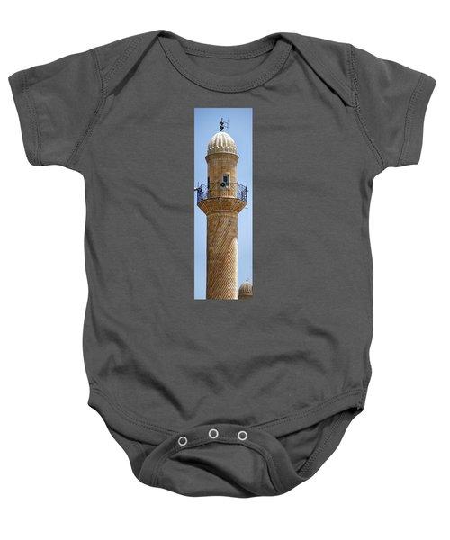 Minaret Of Ulu Cami Mosque Baby Onesie