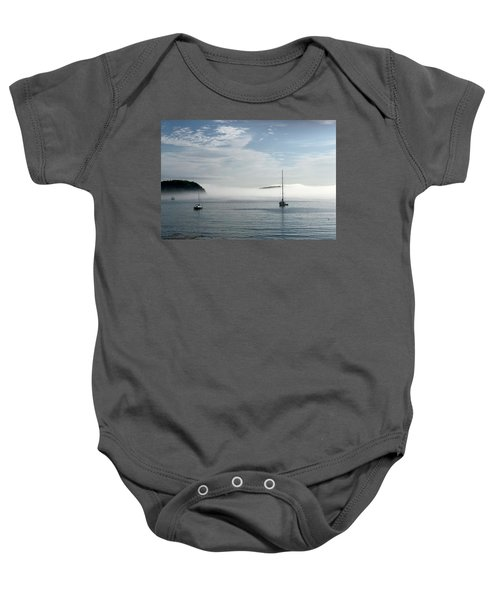 Morning Mist On Frenchman's Bay Baby Onesie