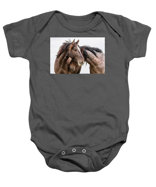 Baby Onesie featuring the photograph Secrets by Mary Hone