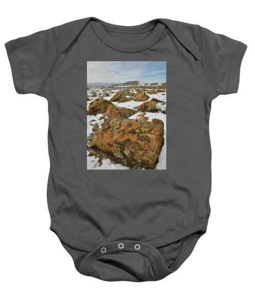 The Many Colors Of The Book Cliffs Baby Onesie
