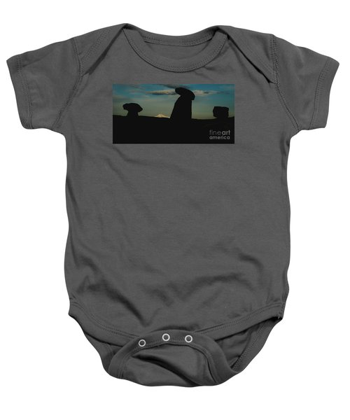 Turkish Landscapes With Snowy Mountains In The Background Baby Onesie