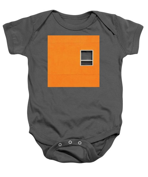 Very Orange Wall Baby Onesie