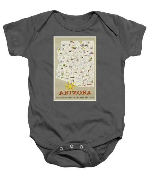 Vintage Travel Poster - Arizona Baby Onesie