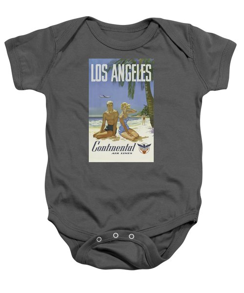 Vintage Travel Poster - Los Angeles Baby Onesie