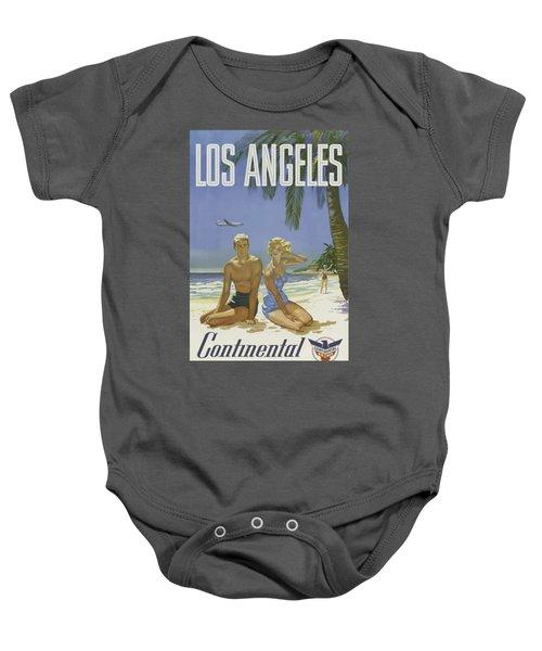 Vintage Travel Poster - Los Angeles Baby Onesie