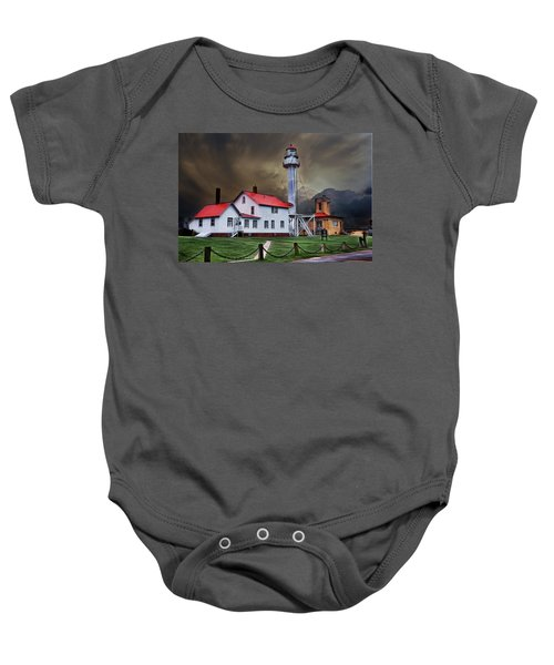 Whitefish Point Lighthouse Baby Onesie