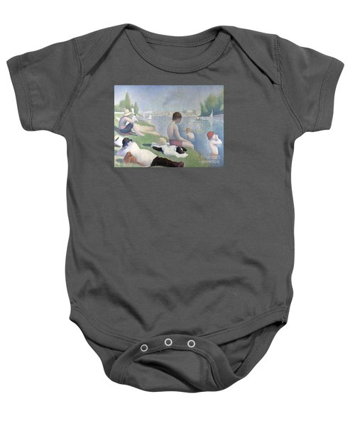 Bathers At Asnieres Baby Onesie