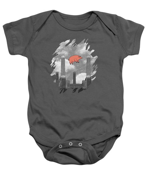 Pink Floyd Pig At Battersea Baby Onesie