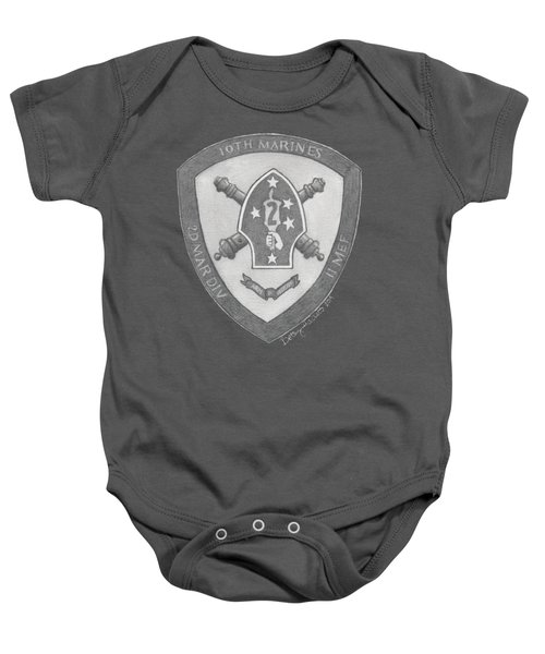 10th Marines Crest Baby Onesie