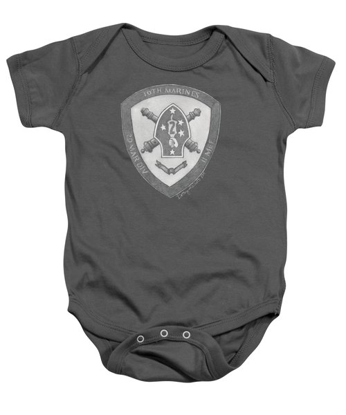 10th Marines Crest Baby Onesie
