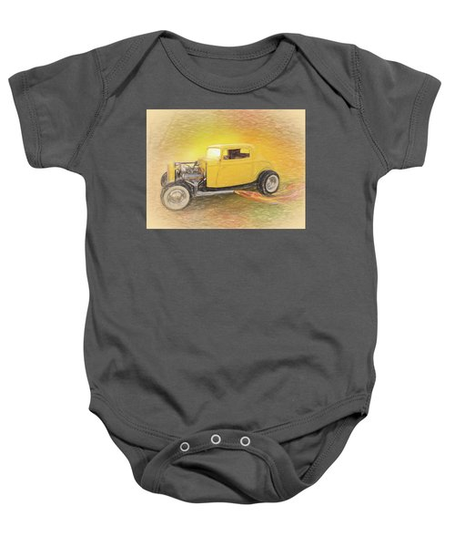 1932 Ford Coupe Yellow Baby Onesie