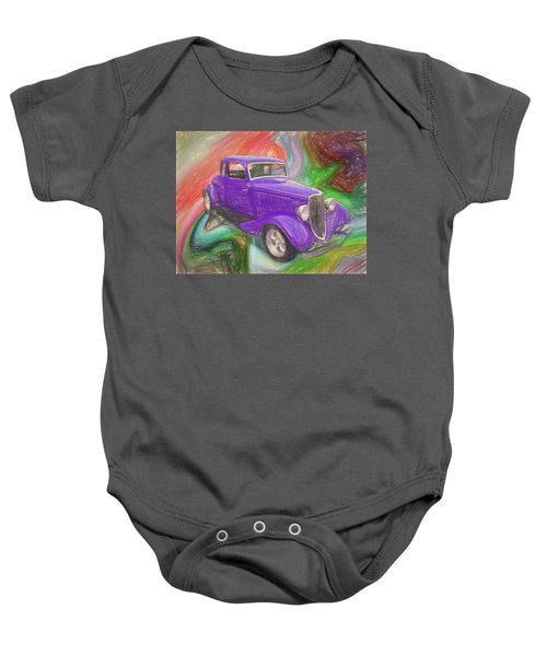 1934 Ford Colored Pencil Baby Onesie