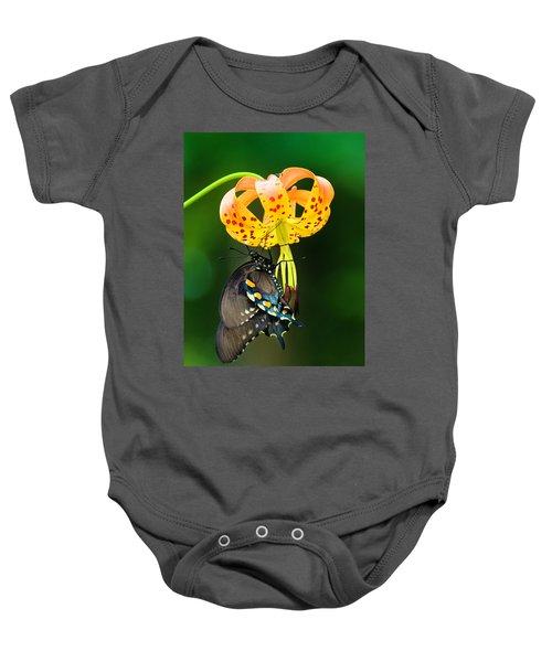 Swallowtail On Turks Cap Baby Onesie