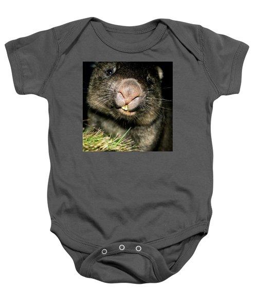 Wombat At Night Baby Onesie
