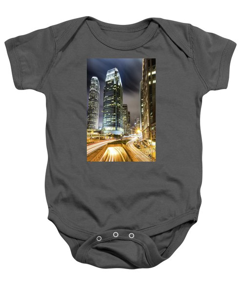 Hong Kong Night Rush Baby Onesie