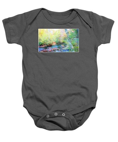 Pocono Mountain Stream, Pennsylvania Baby Onesie