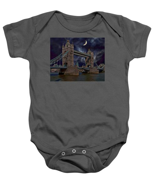 London Tower Bridge Baby Onesie