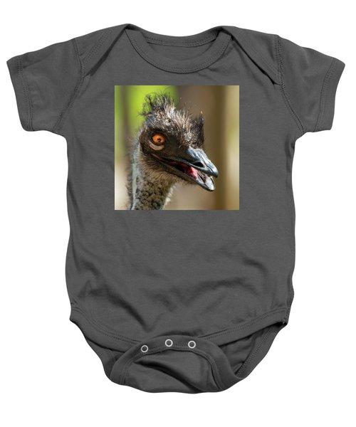 Australian Emu Outdoors Baby Onesie