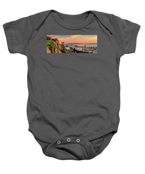 A Nice Evening In The Park - Panorama Baby Onesie