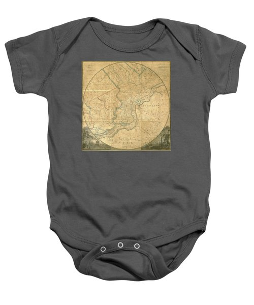A Plan Of The City Of Philadelphia And Environs, 1808-1811 Baby Onesie