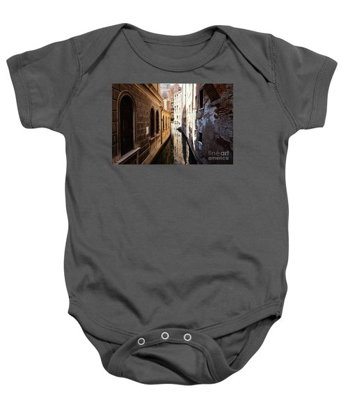 A Shadow In The Venetian Noon Narrow Canal Baby Onesie