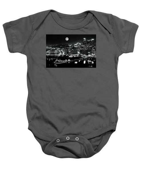 A View Of Pittsburgh Pa From Above Baby Onesie