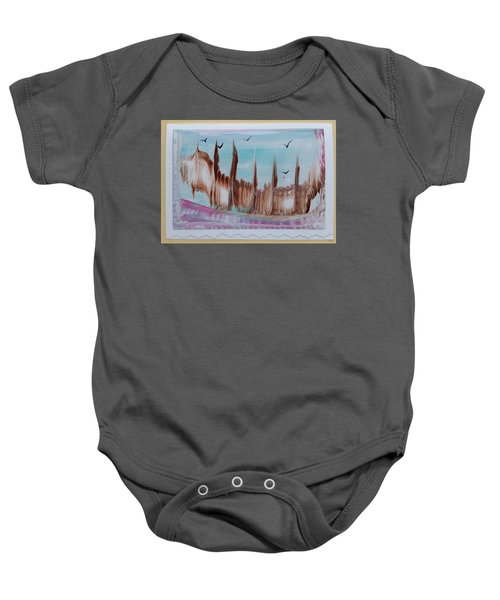 Abstract Castles Baby Onesie