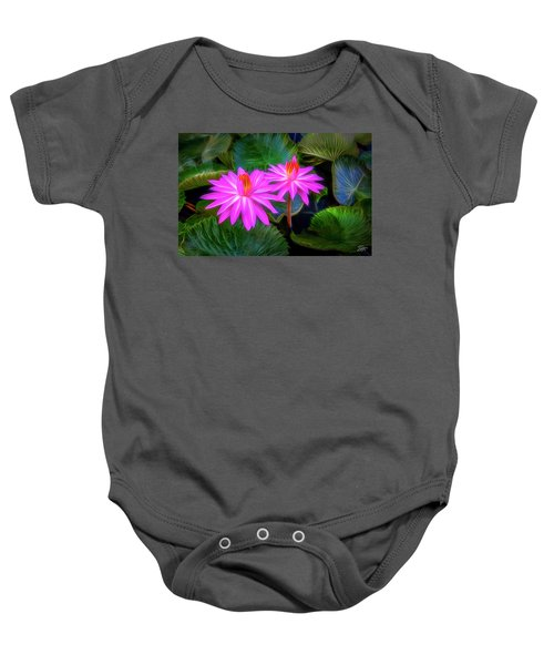 Abstracted Water Lilies Baby Onesie