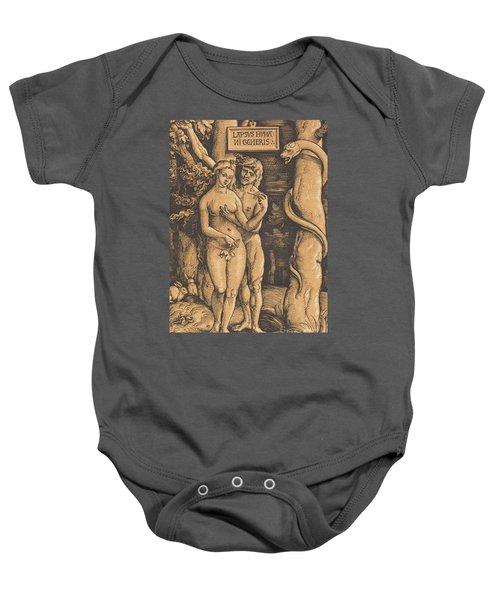 Adam And Eve, 1511 Woodcut Baby Onesie