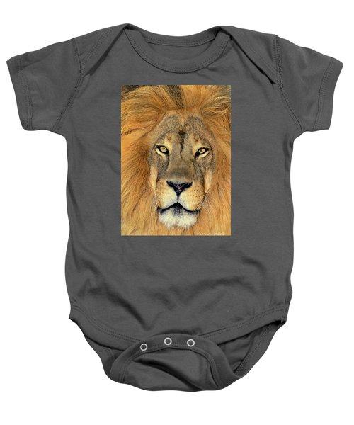 African Lion Portrait Wildlife Rescue Baby Onesie