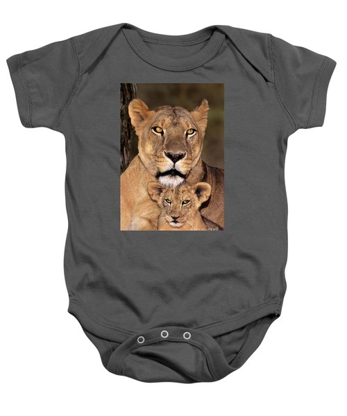 African Lions Parenthood Wildlife Rescue Baby Onesie
