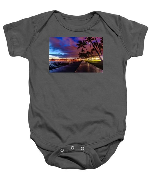 After Sunset At Kona Inn Baby Onesie