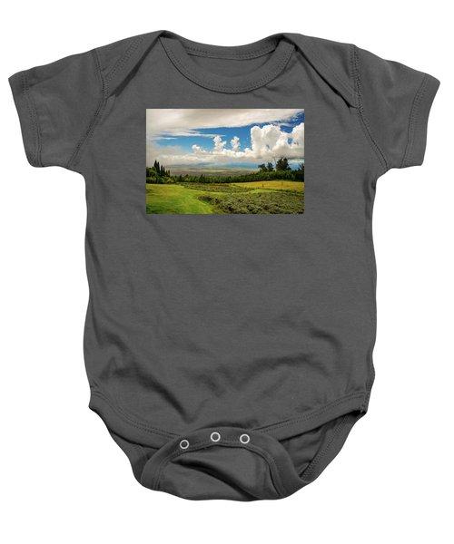 Alii Kula Lavender Farm Baby Onesie