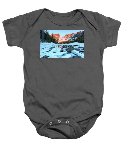 Alpenglow At Dream Lake Rocky Mountain National Park Baby Onesie