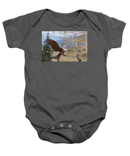 American Eagle In Autumn Baby Onesie