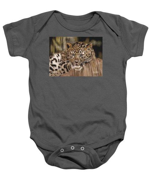 Amur Leopard Cub Baby Onesie