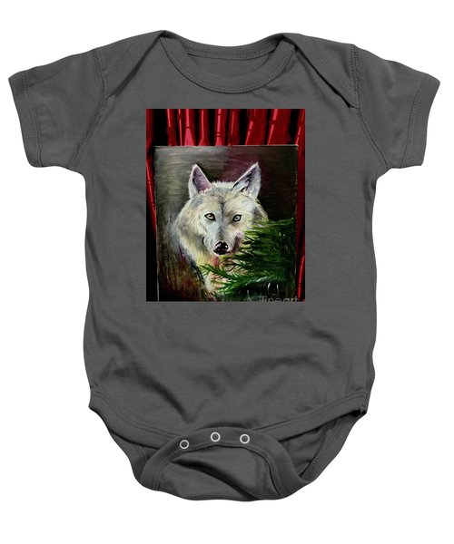 An Arctic Wolf Seeing Through The Soul Baby Onesie