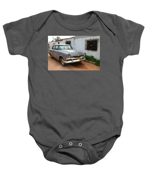 Antique Car Grey Cuba 11300501 Baby Onesie