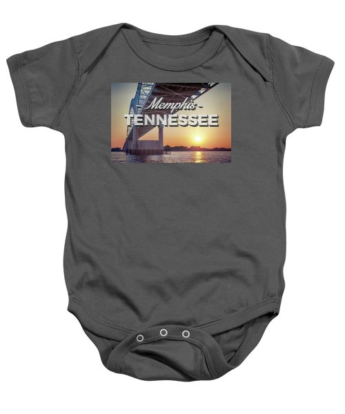 Bridge Over Mississippi River Baby Onesie