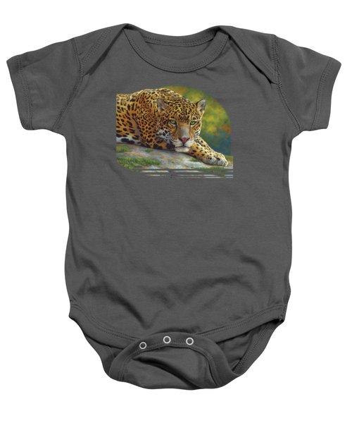 Peaceful Jaguar Baby Onesie